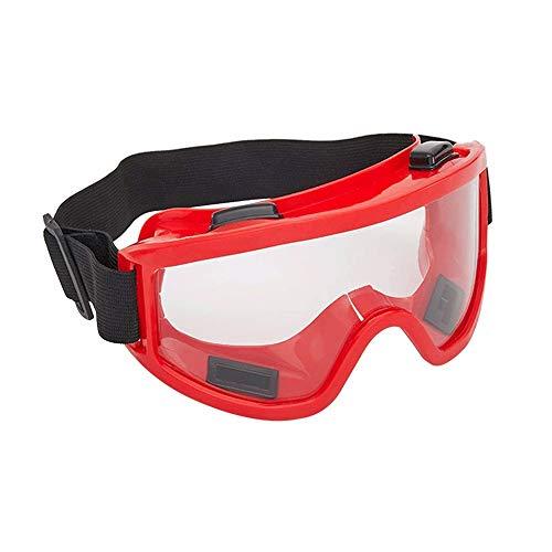 Z-Color Anti-Niebla Resistente al Desgaste máscara for los Ojos Gafas de Fuego a Prueba de Salpicaduras de líquidos a Prueba de Viento a Prueba de Polvo Marcos Rojo Lentes