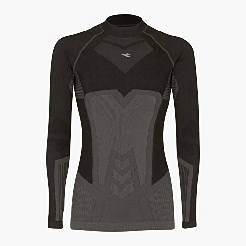 Diadora Sport Men 102171188 LS Turtle Neck Act T-Shirt - Nero Fumo, 2X-Large