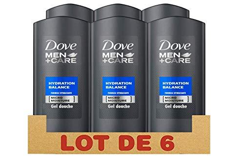 Dove Men + Care - Gel doccia idratante Balance, 250 ml, 6 pezzi