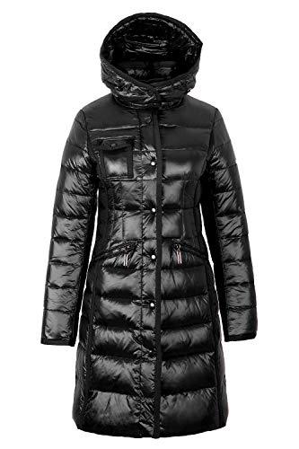 Grimada M006 Damen Daunenjacke TARORE mit Kapuze (34, schwarz)