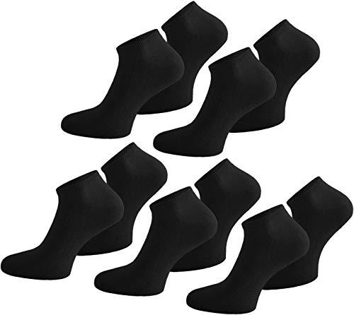 normani 15 Paar Sneaker-Socken Damen & Herren - Größen 35-50 -Viele Trendige Farben Farbe Schwarz Größe 43/47