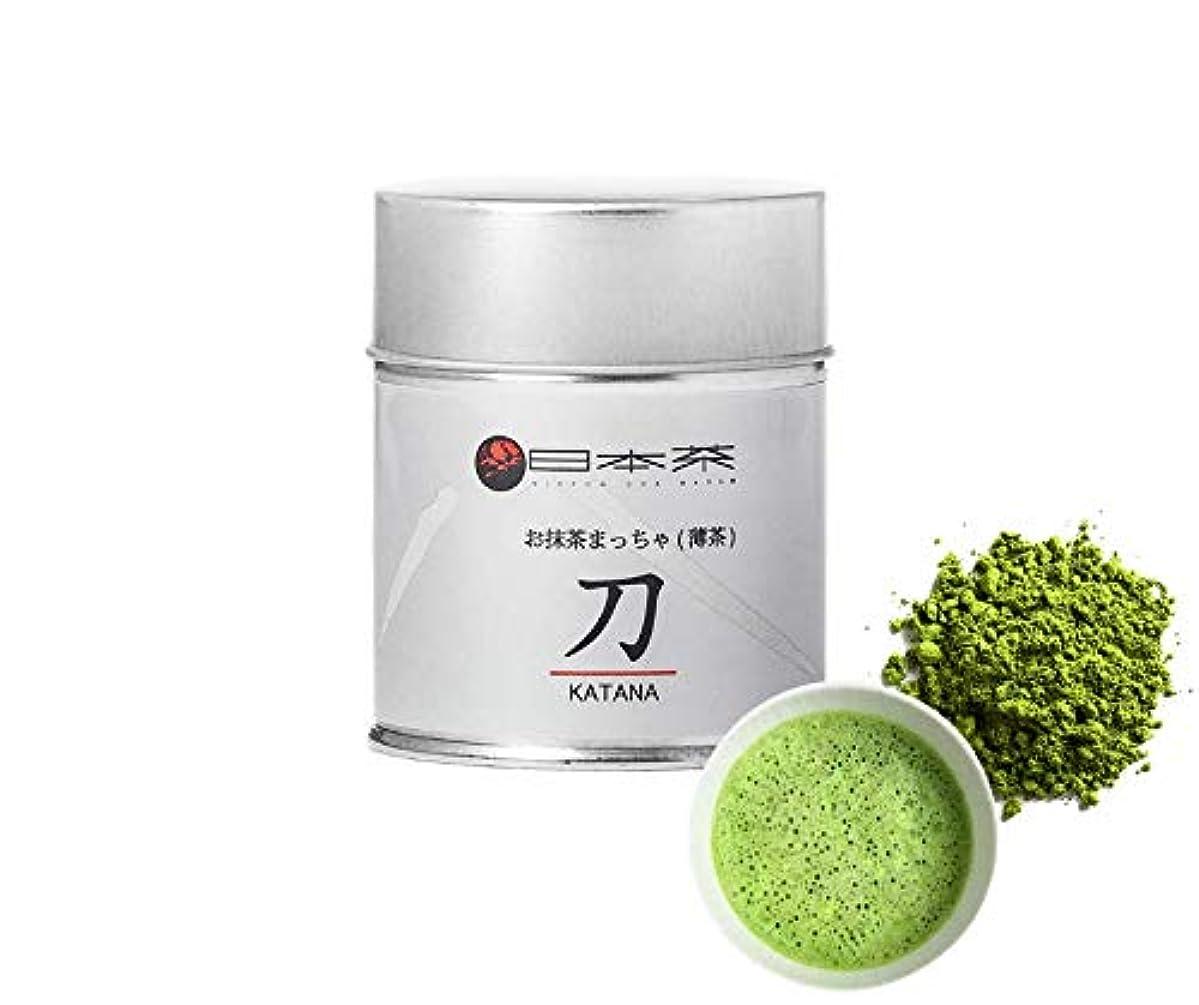 Nippon Cha - Katana Matcha Green Tea Powder - Japanese Origin - First Harvest - Radiation Free - Zero Sugar - Ceremonial Grade for Everyday Recipes, 30g (1oz) Tin