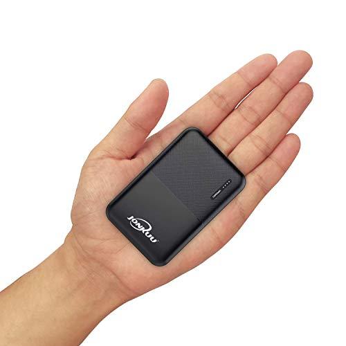 JONKUU Power Bank 10000mAh Caricabatterie Portatile, Mini Batteria Esterna 2.4 A Carica Veloce Batteria Portatile con USB Tipo C Porte per Huawei, Samsung, iPhone X/8/8 Plus, Xiaomi e Altri (Nero)