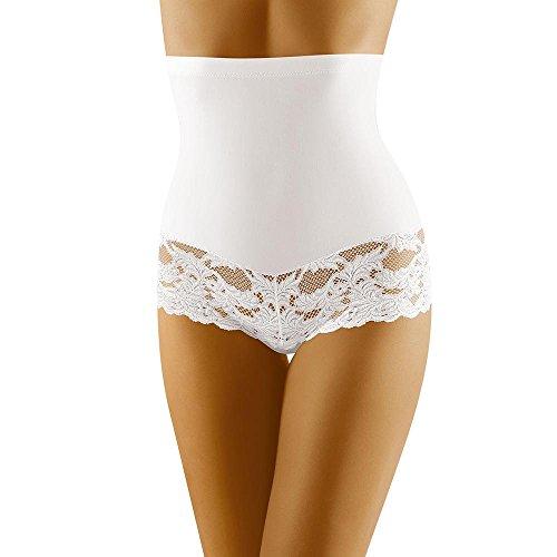 Wolbar Damen Hipster Slip WB183, Weiß,Large
