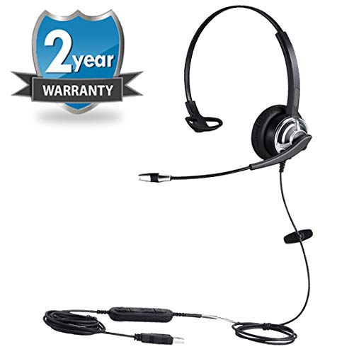 USB Telephone Headset with Noise Cancelling Microphone Computer Headset...
