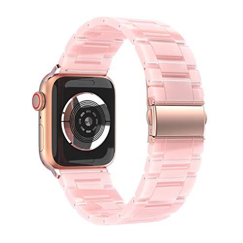 ANBEST Correa Compatible con Apple Watch Band 42mm 44mm Correa de Repuesto de Pulsera de Resina Ligera para Mujer Serie 5 4 3 2 1 Sport Edition Nike +
