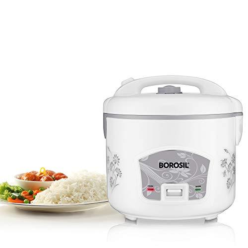 Borosil Pronto BRC28MPB23 2.8-Litre Rice Cooker (Silver)