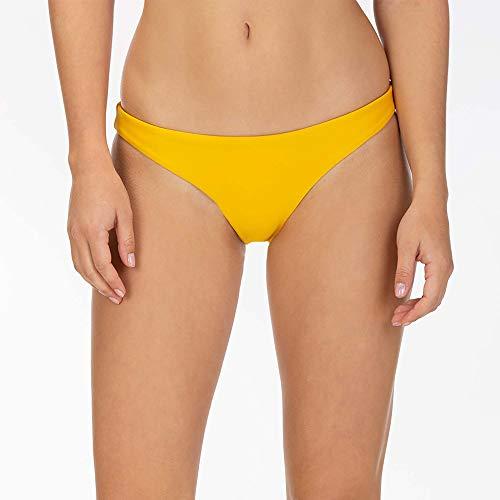 Hurley Damen W Q/D SURF Bottom Bikini Hose, Dark Sulfur, M