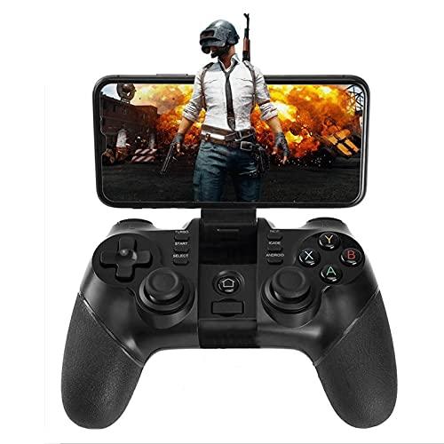 QCHEA Controlador Gamepad inalámbrico Controlador de teléfono de Juego Recargable, Compatible con teléfonos Android, tabletas, TV, TV Box, Receptor Bluetooth for PC Incluido (no for Dispositivos iOS)