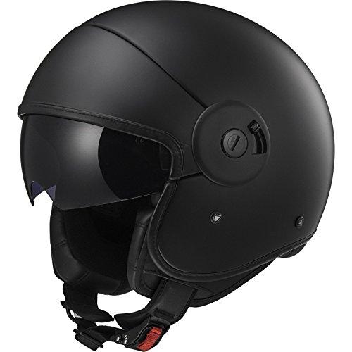 Preisvergleich Produktbild LS2 Helm Motorrad of597 Cabrio,  Full matt black,  XL