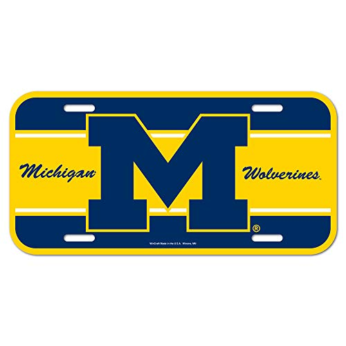 NCAA University of Michigan License Plate