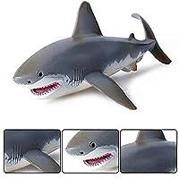 サメのシミュレーション動物モデル(17cm)、リアルなサメの枕、子供のためのリアルなモーションシミュレーション動物モデル、男の子と女の子のための人形のギフト