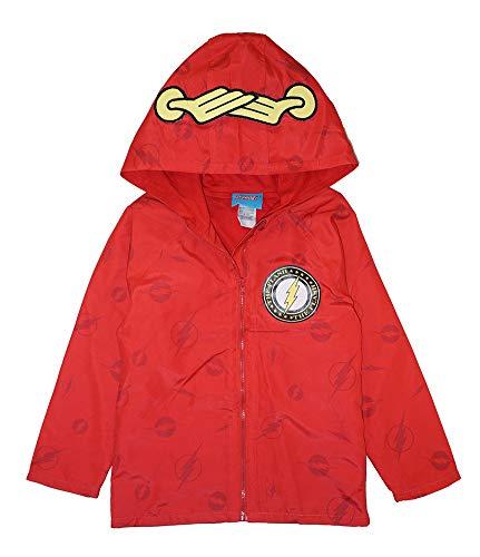DC Comics Toddler/Little Boys Jersey Lined Windbreaker Jacket (7, Flash)
