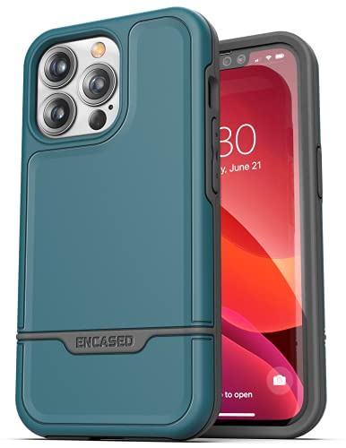 Encased Rebel Armor Designed for iPhone 13 PRO MAX Case - Ultra Protective Rugged Phone Case (Ocean Blue)
