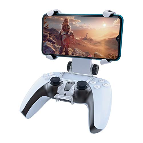 Mcbazel Mobile Phone Clamp for PS5 Controllers Adjustable Stand Phone Clip Mount Holder Clamp Bracket for Playstation 5 Dualsense Wireless Controller