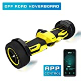 Fitnessclub G-F1 Off-Road Hoverboard, UL2272 Certified 8.5' Self Balancing Scooter with Bluetooth Speaker LED Lights for Kids and Adult (Yellow)