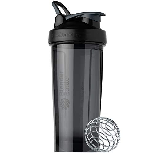 BlenderBottle Shaker Bottle Pro Series Perfect for Protein Shakes and Pre Workout, 28-Ounce, Black