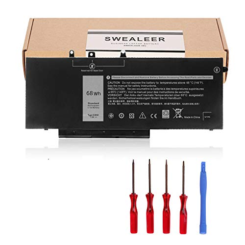 SWEALEER GJKNX Laptop Battery Compatible with Dell Latitude 5480 5580 5280 5590 5490 E5480 E5580 E5490 E5590 Precision 15 3520 3530 Series GD1JP 0GD1JP DY9NT 0DY9NT 5YHR4 451-BBZG [7.6V 4-Cell 68Wh]