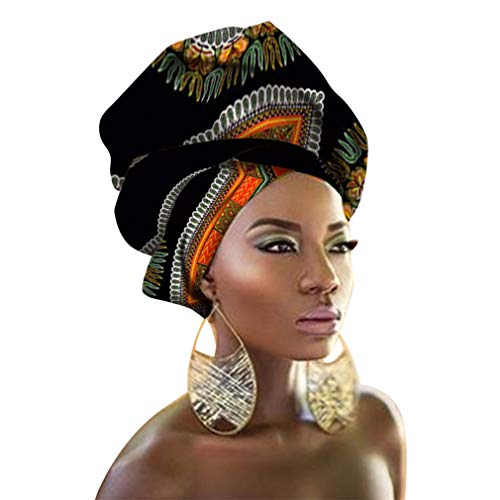 """Chien TJ04 African Head Scarf Extra Long 70""""x20""""(Color 41)"""