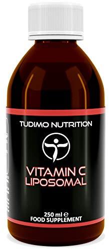 Vitamina C Liposomal | 250 ml de Ácido Ascórbico Líquido Encapsulado en Micro Liposomas de Lecitina de Girasol | Vegano y de Alta Absorción | Sin Soya | Sin Maltitol | Sin Alcohol | Sin OGM