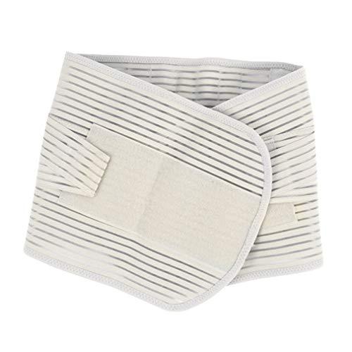 Yixikejiyouxian Double Pull Lendenwirbelstütze verstellbare Unterstützung für den unteren Rückengurt Schmerzlinderung Unisex Sport Schutz Taille Nierengurt - Weiß XL