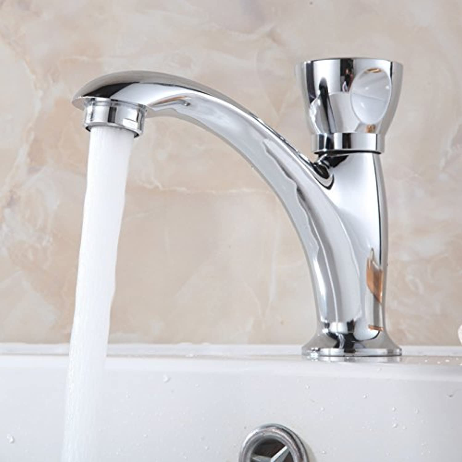 Hansgoed Single Cold Faucet Basin Faucet Single Hole Basin Faucet Basinquality Assurance Of Modern Simple Luxury, Luxury And Ancient Classic Home Decoration