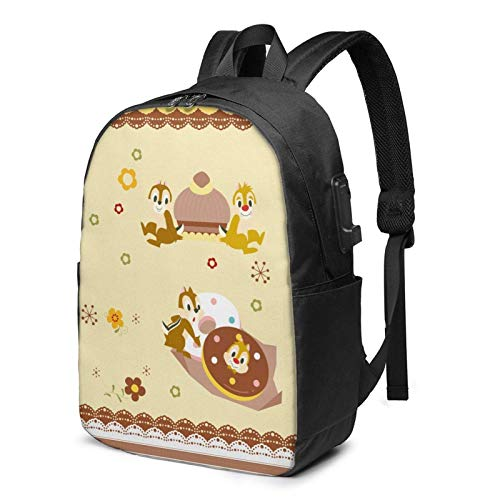 C-Hip and D-ale Laptop Backpacks- with USB Charging Port/Stylish Casual Waterproof Backpack Fits Most 17 Inch Laptops and Tablets