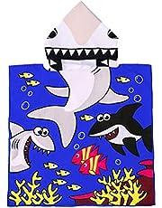 Yililay Kids capuchon strandlaken Lovely Zwembad Cartoon Cloak Badjas voor meisjes Boys Purple