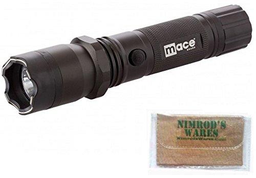 Nimrod's Wares MACE Stun Gun & Flashlight 2.4 Million Volts 300 Lumens Strobe Microfiber Cloth