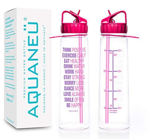 AQUANEÜ 30oz Motivational Inspirational Fitness Workout Sports...