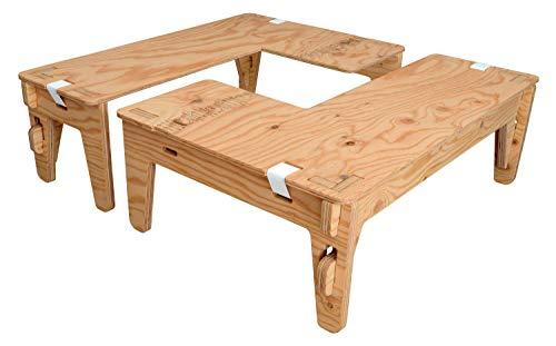 ヨカ L-TABLE 2台セット 塗装済み キャンプ テーブル YOKA