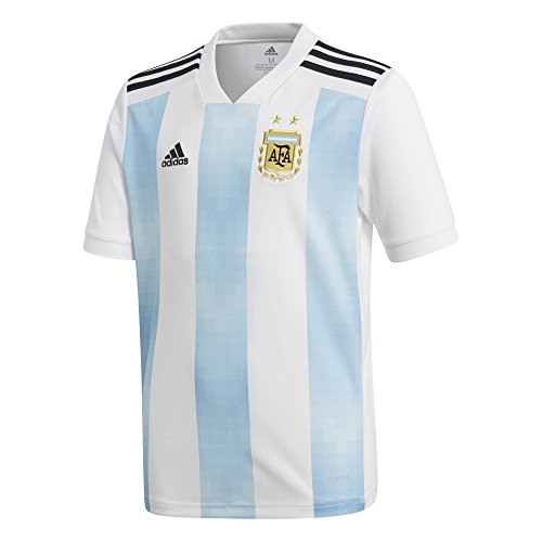 adidas Youth Argentina 2018 Home Replica Jersey White/Light Blue L