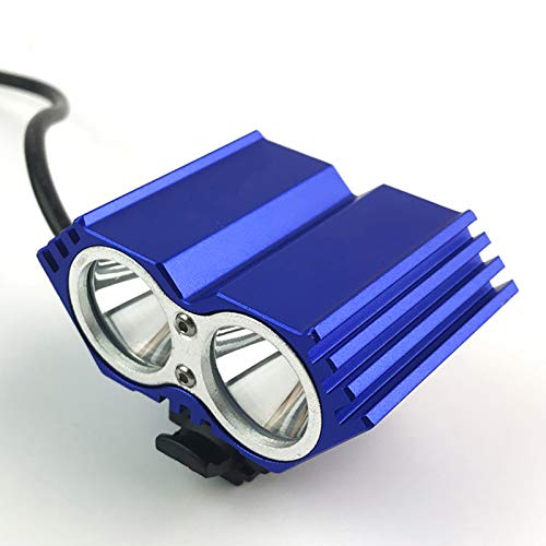 NENGGE Fahrradlicht Vorne Super Hell 2000 Lumen USB Aufladbar 10000mah Akku Fahrradlampe IPX6 Wasserdicht Stoßfest LED Fahrradbeleuchtung mit 4 Licht-Modi für Radfahren Camping Frontlichter,Blau