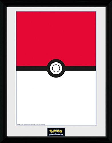 1art1 Pokemon - Pokeball Gerahmtes Bild Mit Edlem Passepartout | Wand-Bilder | Kunstdruck Poster Im Bilderrahmen 40 x 30 cm