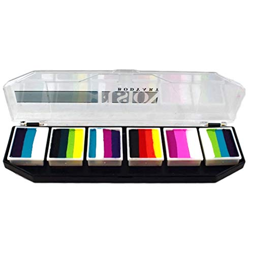 FUSION BODY ART Professional Face Painting Palette – Rainbow Burst   Safe & Non-Toxic – Water Activated Face Paint Kit for Kids & Adults   Gift & for Birthday Parties