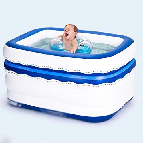 TYUIO Aufblasbare Swimmingpool-heiße Wannen-Badewannen Aufgeblasene Wannen mit der elektrischen Luftpumpe-Aufblasvorrichtung, die dauerhafte Erwachsene Badewannen faltet (größe : S)
