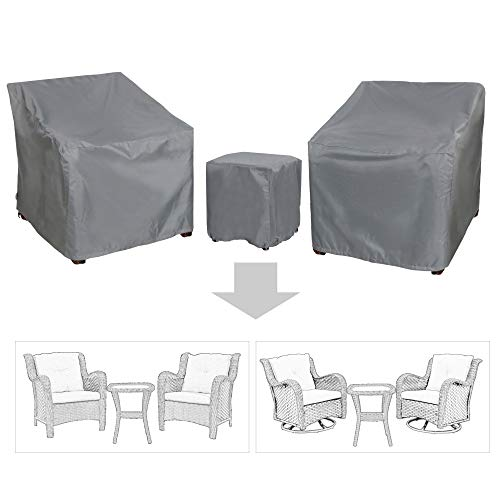 Baner Garden B15 3-Piece Outdoor Veranda Patio Garden Furniture Cover Set with Durable and Water Resistant Fabric…