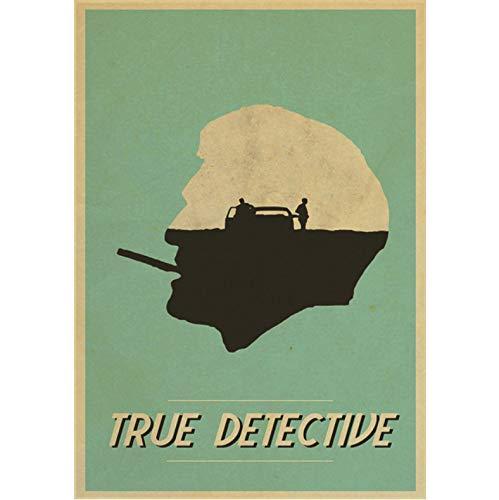 No True Detective The Poster Mcconaughey Woody Harrison Matthew Carteles E Impresiones Arte Lienzo Pintura Decoración del Hogar 50X70Cm Sin Marco