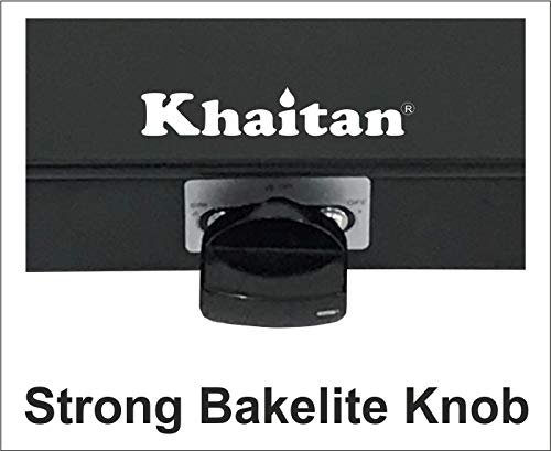 Khaitan 2 Burner BP-Nano MS Black Toughened Glass Top, Manual Ignition LP Gas Stove with 1 Year Warranty (ISI Approved)