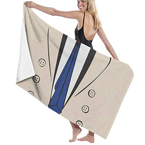 QMS CONTRACTING LIMITED Castiel Trenchcoat Tee Adult Microfiber Beach Towel Oversized 31x51 Inch Fast Dry Highly Absorbent Multipurpose Use Bath Sheet for Women Men