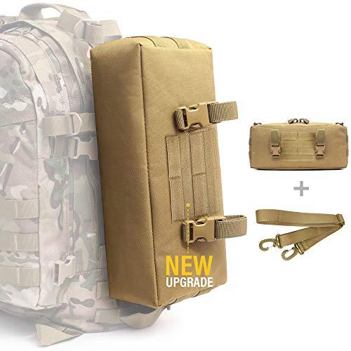 WYNEX Tactical Increment Molle Pouch, Vertical EDC Utility Pouches Sling Bag Militar Multiusos de Gran Capacidad con Correa para el Hombro Accesorio Impermeable Diseño Modular