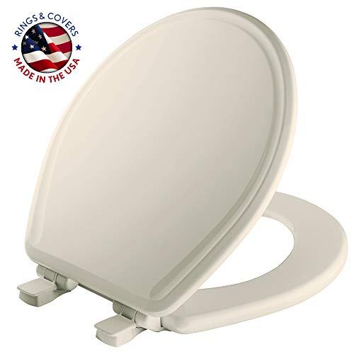 Mayfair 48E2000Absenkautomatik geformter WC-Sitz aus Holz mit Lift-off Scharniere, rund, weiß, 48SLOWA 346