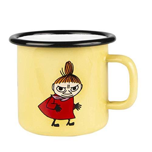 Mumin Tasse Kleine My, Gelb, Emaille, 250ml, Tasse für Jungen, Mädchen, Kinder und Erwachsene