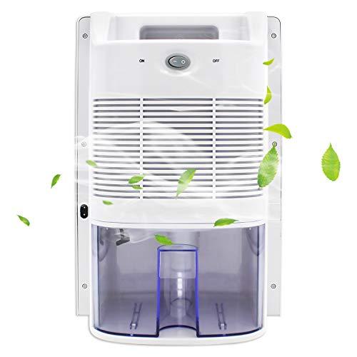 2L Luftentfeuchter - kompakter, tragbarer Lufttrockner gegen Feuchtigkeit, Schmutz und Schimmel in Haus, Bad, Büro oder Keller mit UV-Lampensterilisation