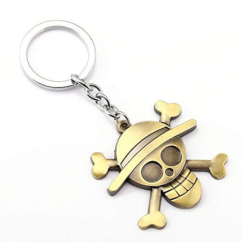 Générique One Piece Porte-clés Métal Luffy Logo Straw Hat Skull Face l'Equipage du Chapeau de Paille