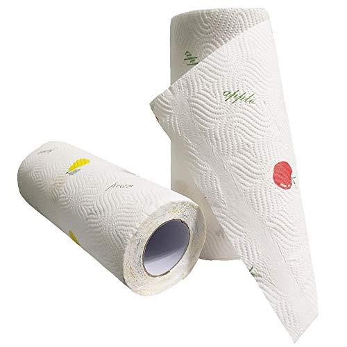 2 rollos de toallas de papel de cocina reutilizables, paños de cocina, multiusos para limpieza ecológica, versátiles y resistentes a desgarros, regalos respetuosos con el medio ambiente