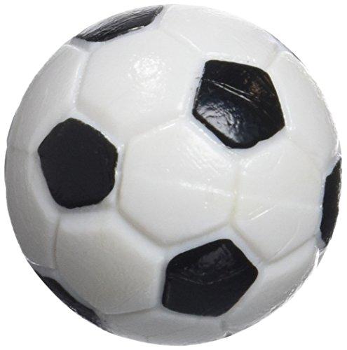 Gamesson Balles de Football de Table (Lot de 4) – Noir/Blanc, 32 mm