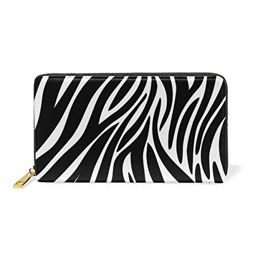 FANTAZIO Clutch portemonnees voor vrouwen Zebra Textures Business Card Case