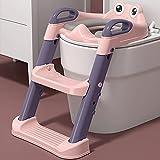 Asientos de entrenamiento plegables para bebés, antideslizantes para bebés y niños, con escaleras, escaleras, color rosa