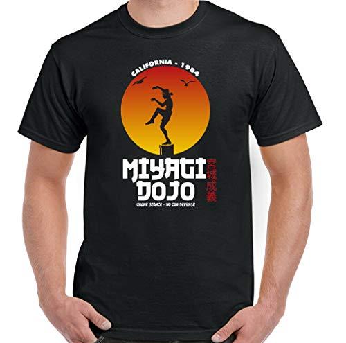 Karate Kid T-Shirt Mens Miyagi Dojo Top Mr Cobra Kai Karate MMA Training Gym mr,Black,XL